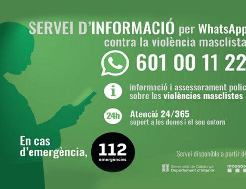 WhatsApp contra la violencia machista (Cataluña)